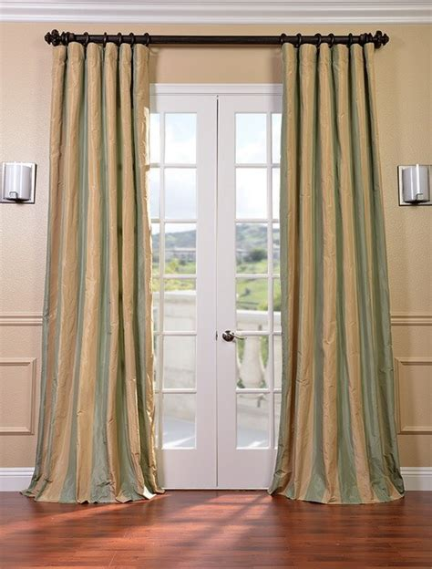 Silk Striped Drapes - orinda faux silk taffeta stripe curtains drapes