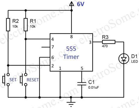 Bistable Multivibrator Using Timer