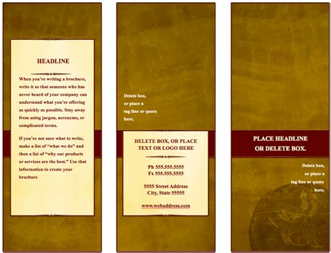 traditional tri fold brochure template  pages