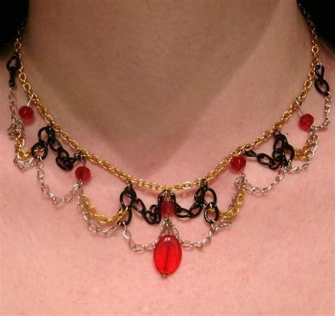 red gold black  silver choker  choker necklace