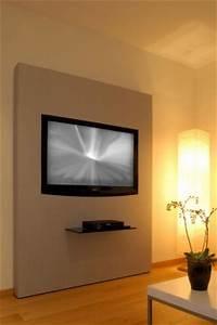 Fernseher An Die Wand Hängen Ohne Halterung : tv wand ohne bohren ~ Michelbontemps.com Haus und Dekorationen