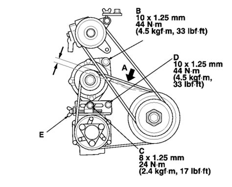 Diagram Picture Change Serpentine 1998 Honda Accord 4 Cylinder by Repair Guides