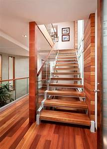 glass enclosed staircase contemporary with mahogany wall