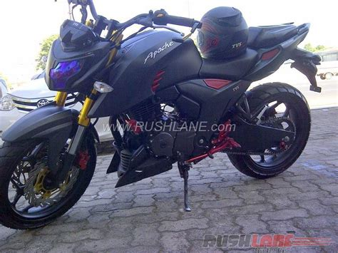 Tvs Apache Rtr 200 4v Modification by How About This Matte Black Modified Tvs Apache Rtr 200 4v