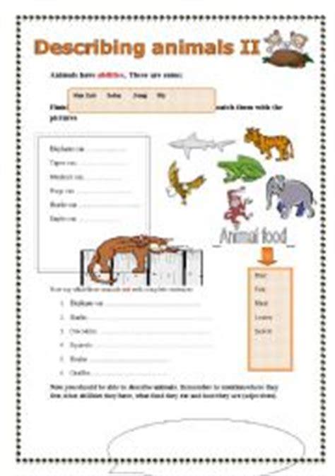 describing animals part 2 2 esl worksheet by pastanaga