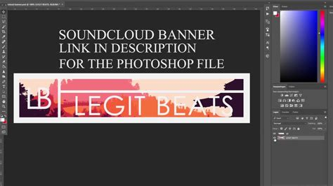soundcloud banner template free soundcloud banner psd template tutorial
