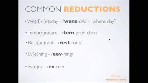 Common Reductions in English Pronunciation: Improve Spoken ...