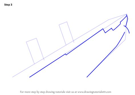 Boat Sinking Drawing by Learn How To Draw Titanic Sinking Boats And Ships Step