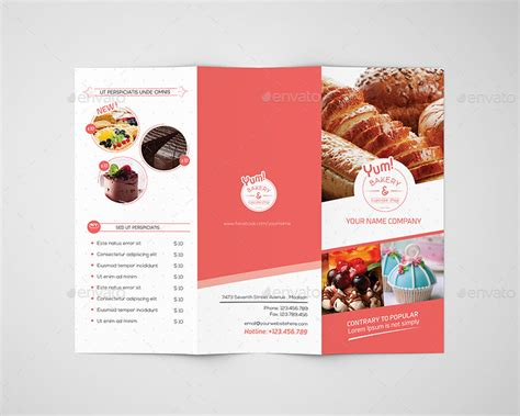 Bakery Brochure Template by Bakery Cupcake Shop Trifold Brochure Template By