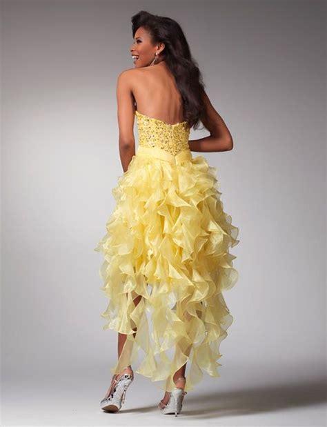 Clarisse prom dresses 1519 - Yellow short formal dress ...