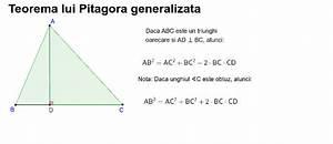 Teorema Lui Pitagora Generalizata  U2013 Geogebra