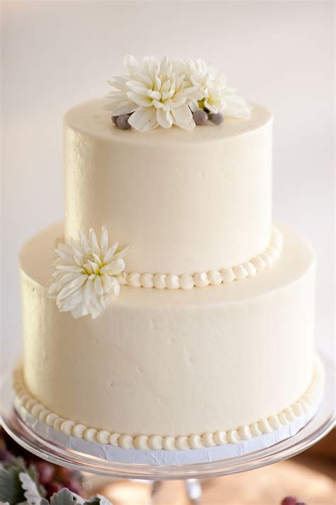 Cocoa And Fig 2 Tier Wedding Cake For Wine Lovers Wedding