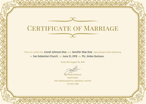 Marriage Certificate Template by 84 Psd Certificate Templates Free Psd Format
