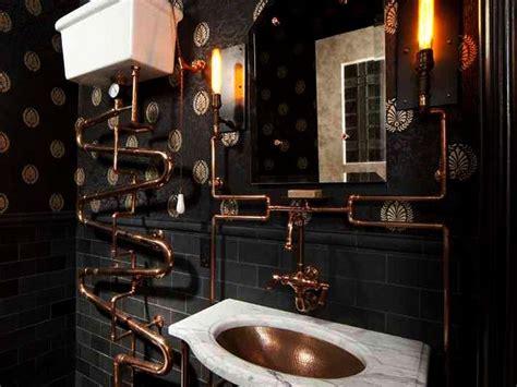 bring steampunk style   bathroom homecrux