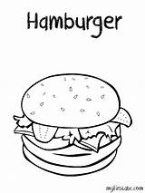 Coloring Hamburger Sheets Printable Colouring Hamburgers Burgers Drawing Crispy Getdrawings Preschool Weather Printables sketch template