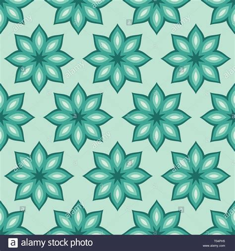 Abstract Flower Shapes by Abstract Seamless Floral Pattern Regularly Repeating