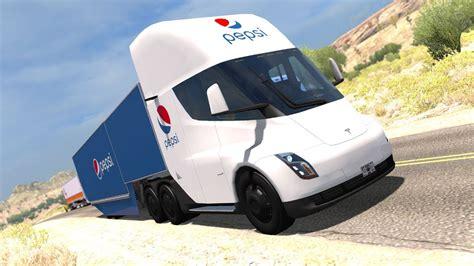 tesla semi truck asi se transporta la pepsi en el futuro