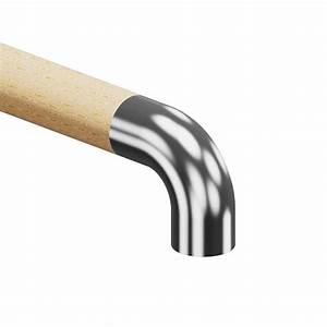 Main Courante En Bois : embout inox crosse pour main courante bois ~ Nature-et-papiers.com Idées de Décoration
