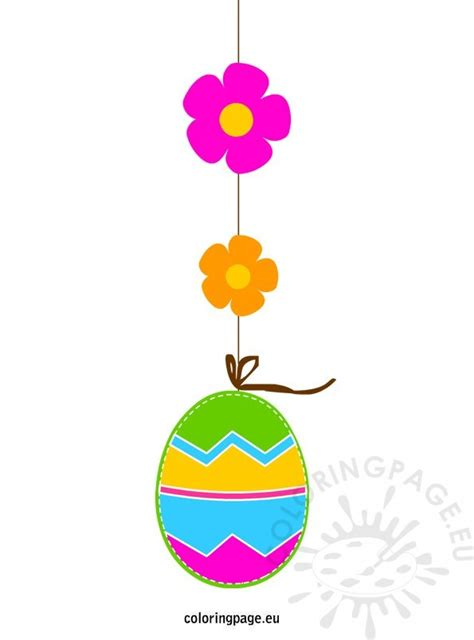 Free Easter Clip Art  Coloring Page