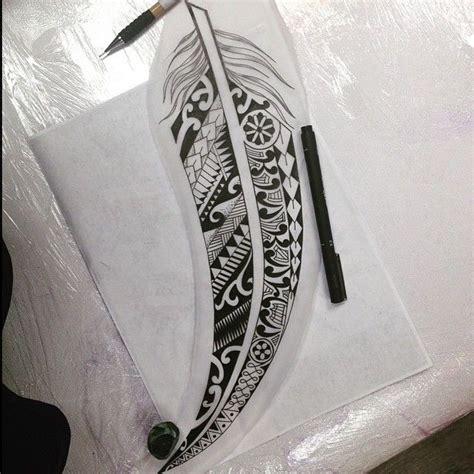maori feather design  atleemagnumcircus magnumcircus