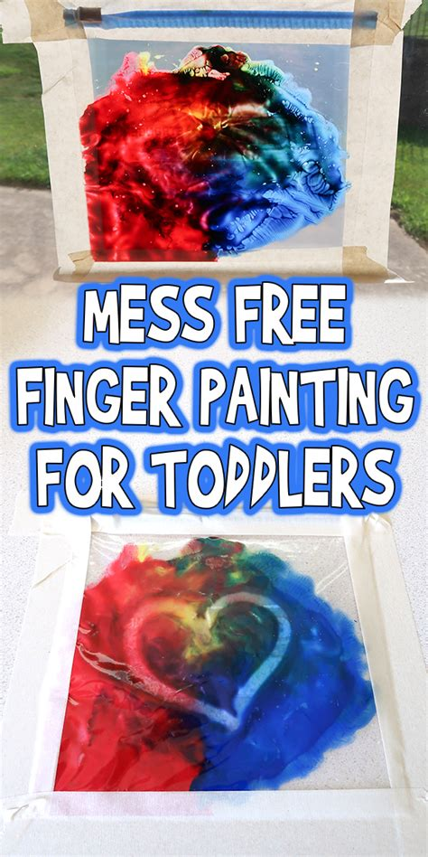 mess  finger painting  toddlers preschoolers