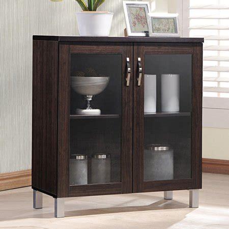 Storage Cabinets Walmart - baxton studio sintra sideboard storage cabinet with glass