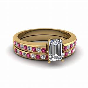 Channel set round diamond women wedding band in 14k rose for Wedding ring sets with sapphire accents