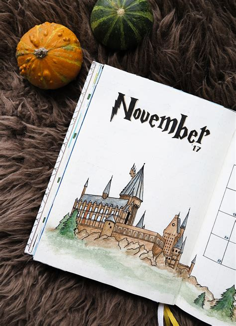 bullet journal harry potter monthly theme stickers tristartist