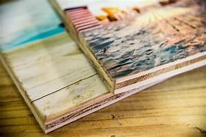 Druck Auf Holz Foto Auf Altem Holz Gedruckt
