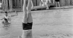 Neil Armstrong, standing on his head on a pool raft - LIFE ...