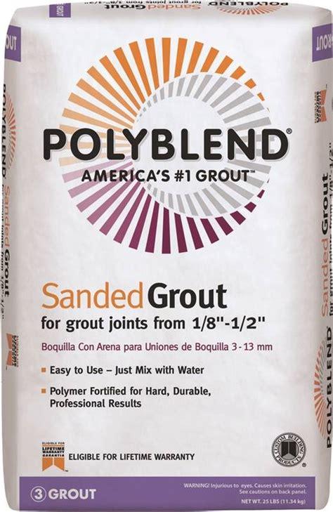 polyblend pbg1025 sanded tile grout 25 lb bag no 10
