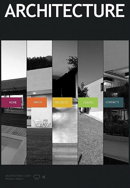 architecture facebook flash cms template