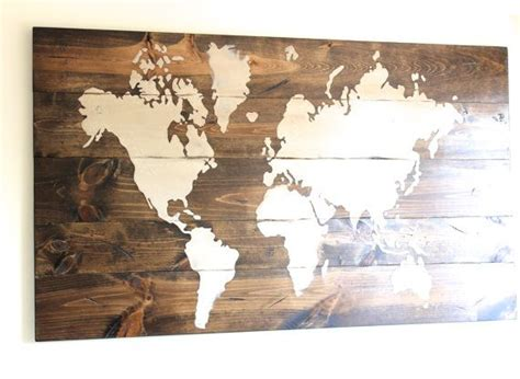 wood map wall world map sign custom sign wooden sign wall by 1600