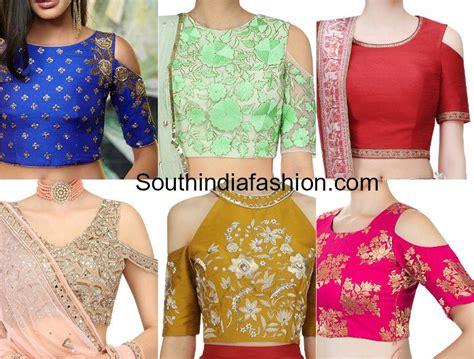 crop top blouse 9 cold shoulder crop top designs south india fashion