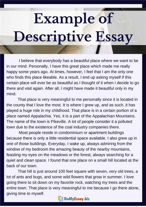 Tips and examples for writing thesis statements. Descriptive Writing Essay Examples - Essay Writing Top