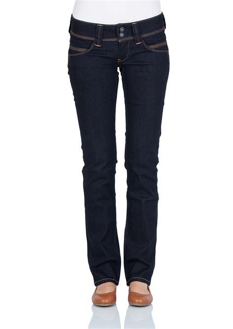 pepe jeans damen jeans venus regular fit rinse