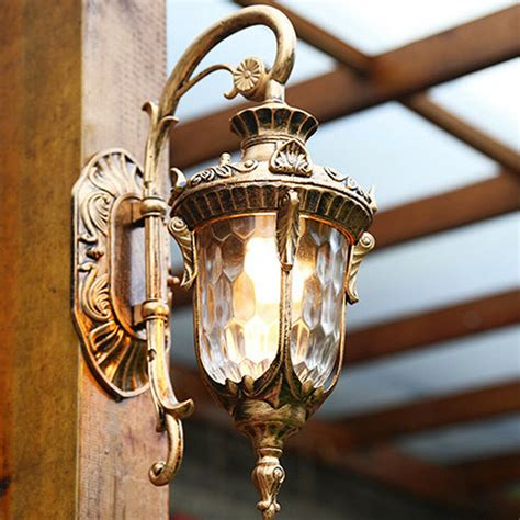 outdoor wall lights glass wall sconce lobby led l brown chandelier lighting ebay