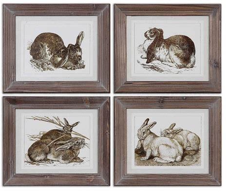 Uttermost Framed by Uttermost Regal Rabbits Framed Uttermost 41392 At