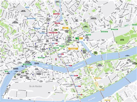 Carte Touristique Du Centre De La by Nantes Carte Touristique Voyages Cartes