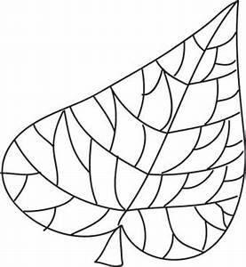 Feuilles D Automne à Imprimer : coloriage graphique feuille 2 t te modeler ~ Nature-et-papiers.com Idées de Décoration