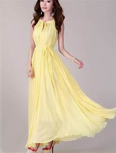 Yellow wedding dress lightweight sundress plus size by lydress for Sundress wedding dress