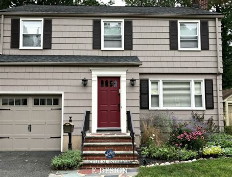 exterior paint colour palette with charcoal gray roof and stone benjamin weimaraner