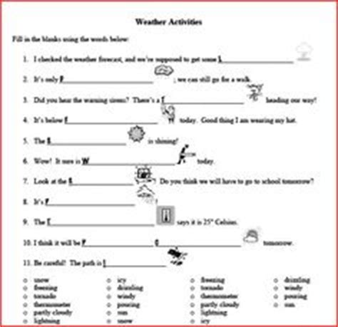 worksheets weather instruments homeshealth info