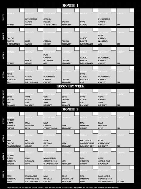 insanity printable workout calendar pdf page 2 search