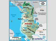 Albania Map Geography of Albania Map of Albania