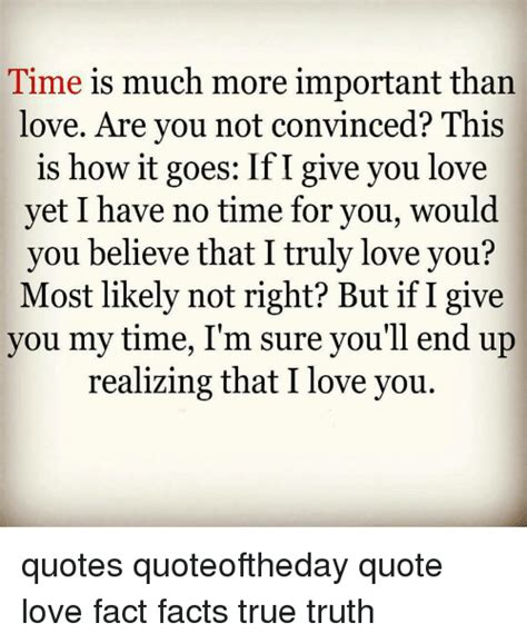 time is much more important than are you not