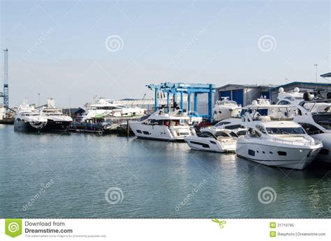 Boat Graphics Poole by Sunseeker Boatyard Poole Editorial Image Image 31710795