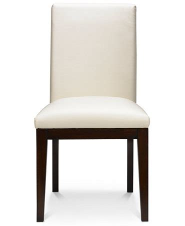 macys dining room chairs bari dining chair white leather furniture macy s