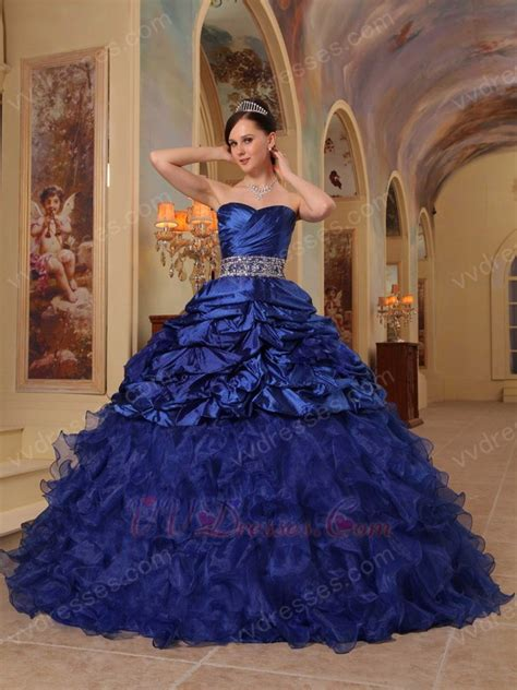 royal blue handmade dress  young girl adult ceremony