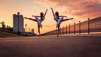 Ballerina Background Sunset Dancers Desktop Ballet Wiki